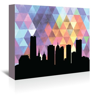 Americanflat 'OklahomaCity_Triangle' by PaperFinch Graphic Art Wrapped on Canvas