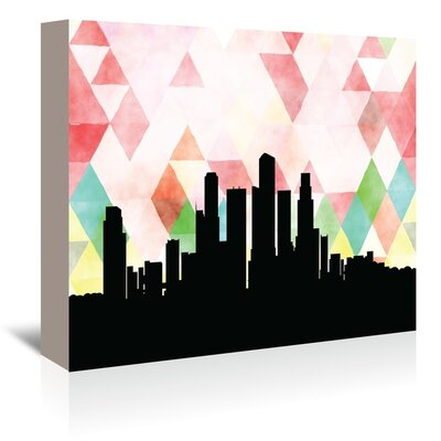 Americanflat 'Singapore_Triangle' by PaperFinch Graphic Art Wrapped on Canvas