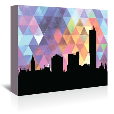 Americanflat 'Manchester_Triangle' by PaperFinch Graphic Art Wrapped on Canvas
