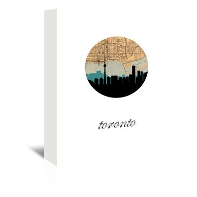 Americanflat 'Toronto Map Skyline' by PaperFinch Graphic Art Wrapped on Canvas