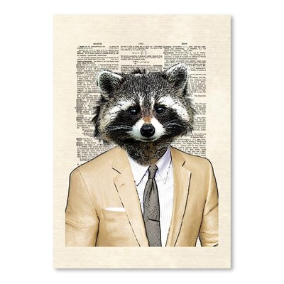 Americanflat 'Raccoon' by Matt Dinniman Graphic Art