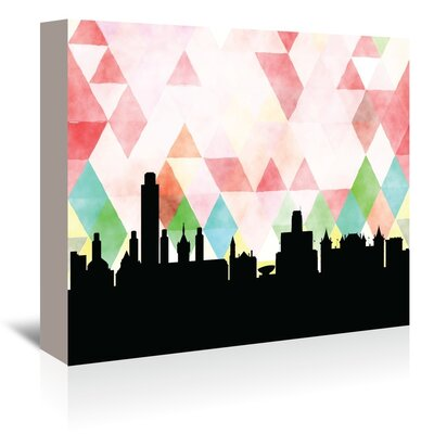 Americanflat 'Albany Triangle' by Paper Finch Graphic Art Wrapped on Canvas