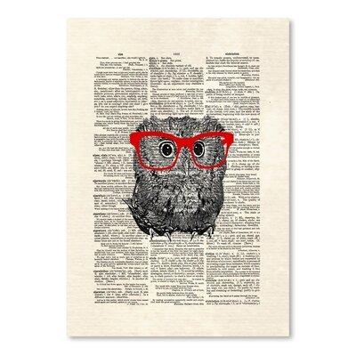 Americanflat 'Smarty Owl' by Matt Dinniman Graphic Art