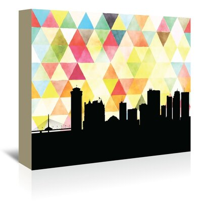 Americanflat 'Winnipeg_Triangle' by PaperFinch Graphic Art Wrapped on Canvas