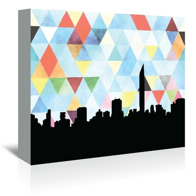 Americanflat 'Mumbai_Triangle' by PaperFinch Graphic Art Wrapped on Canvas