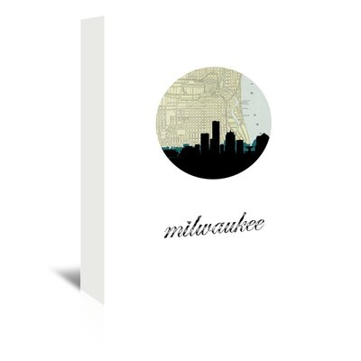 Americanflat 'Milwaukee Map Skyline' by PaperFinch Graphic Art Wrapped on Canvas