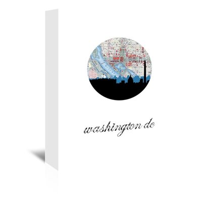 Americanflat 'Washington DC Map Skyline' by PaperFinch Graphic Art Wrapped on Canvas