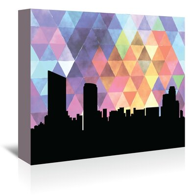 Americanflat 'GrandRapids_Triangle' by PaperFinch Graphic Art Wrapped on Canvas