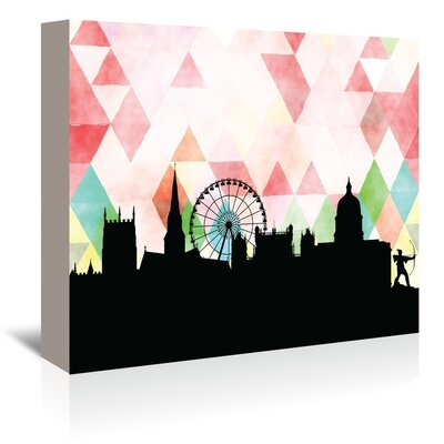 Americanflat 'Nottingham_Triangle' by PaperFinch Graphic Art Wrapped on Canvas
