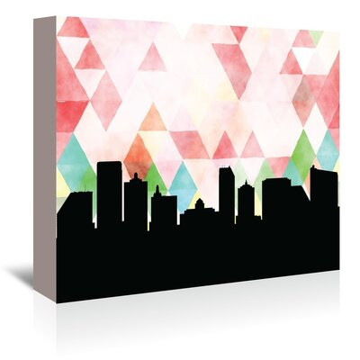 Americanflat 'Atlantic City Triangle' by Paper Finch Graphic Art Wrapped on Canvas
