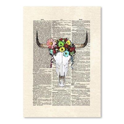 Americanflat 'Cow Skull Flowers' by Matt Dinniman Graphic Art