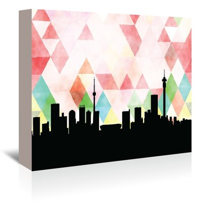 Americanflat 'Johannesburg_Triangle' by PaperFinch Graphic Art Wrapped on Canvas