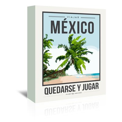Americanflat 'Travel Poster Mexico' by Brooke Witt Vintage Advertisement Wrapped on Canvas