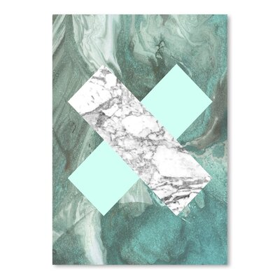 Americanflat 'Geometric Marble X' by Lila and Lola Graphic Art