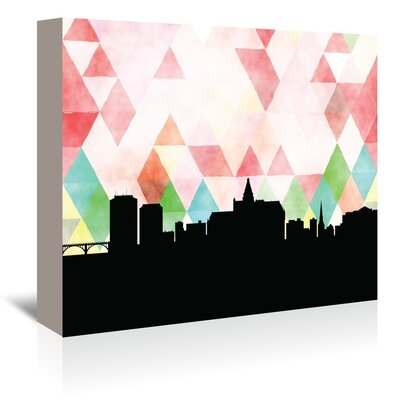 Americanflat 'Saskatoon Triangle' by PaperFinch Graphic Art Wrapped on Canvas