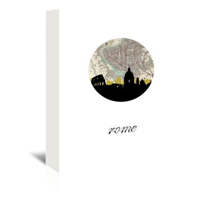 Americanflat 'Rome Map SKyline' by PaperFinch Graphic Art Wrapped on Canvas