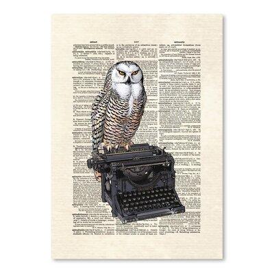 Americanflat 'Typewriter Owl' by Matt Dinniman Graphic Art