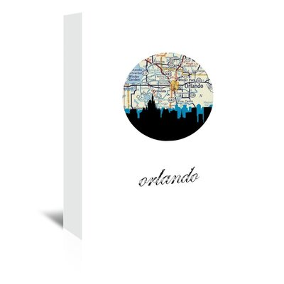 Americanflat 'Orlando Map Skyline' by PaperFinch Graphic Art Wrapped on Canvas