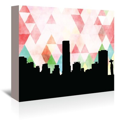 Americanflat 'Seoul_Triangle' by PaperFinch Graphic Art Wrapped on Canvas