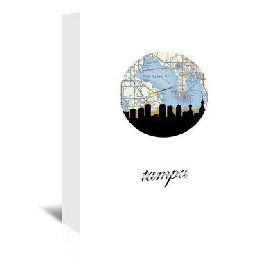 Americanflat 'Tampa Map Skyline' by PaperFinch Graphic Art Wrapped on Canvas