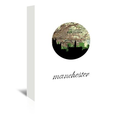 Americanflat 'Manchester Map Skyline' by PaperFinch Graphic Art Wrapped on Canvas
