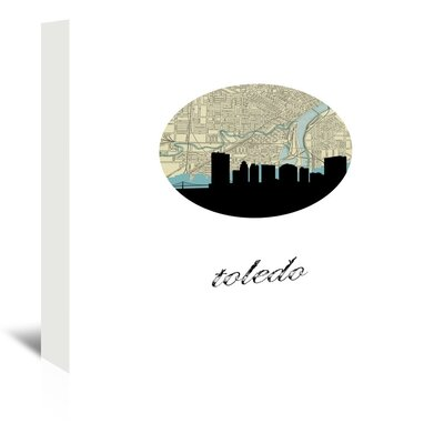 Americanflat 'Toledo Map Skyline' by PaperFinch Graphic Art Wrapped on Canvas