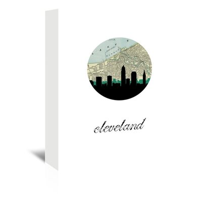 Americanflat 'Cleveland Map Skyline' by Paper Finch Graphic Art Wrapped on Canvas