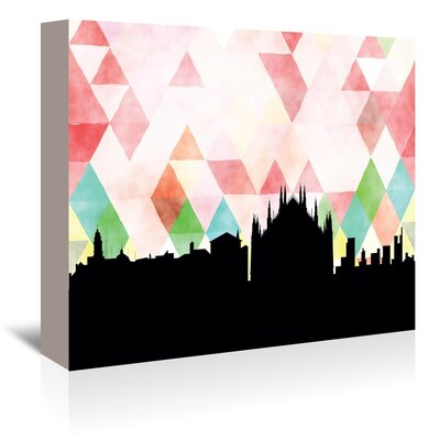 Americanflat 'Milan_Triangle' by PaperFinch Graphic Art Wrapped on Canvas