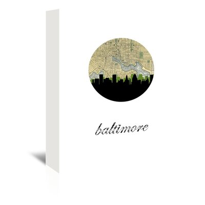 Americanflat 'Baltimore Map Skyline' by Paper Finch Graphic Art Wrapped on Canvas