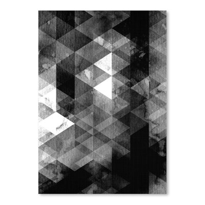 Americanflat 'Geometric Black Grey' by Lila and Lola Graphic Art