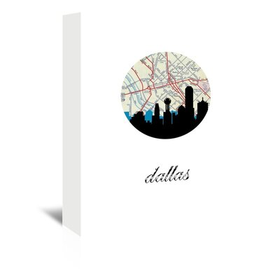 Americanflat 'Dallas Map Skyline' by PaperFinch Graphic Art Wrapped on Canvas