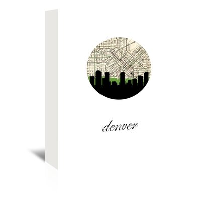 Americanflat 'Denver Map Skyline' by PaperFinch Graphic Art Wrapped on Canvas