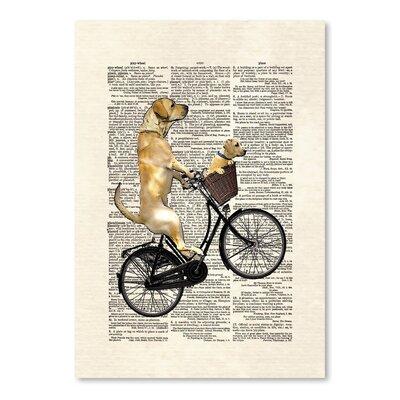 Americanflat 'Labrador Bike' by Matt Dinniman Graphic Art