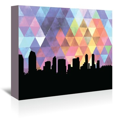 Americanflat 'SanDiego_Triangle' by PaperFinch Graphic Art Wrapped on Canvas