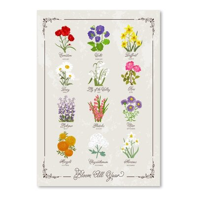 Americanflat 'Floral Birth Flowers 1' by Brooke Witt Graphic Art