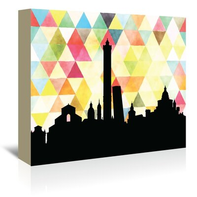 Americanflat 'Bologna Triangle' by Paper Finch Graphic Art Wrapped on Canvas