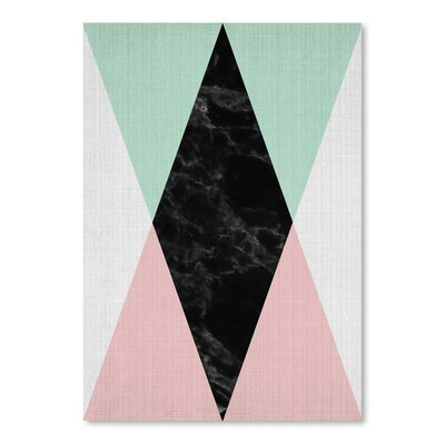 Americanflat 'Geometric Pink Mint' by Lila and Lola Graphic Art