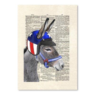 Americanflat 'Eli Wonder Donkey' by Matt Dinniman Graphic Art