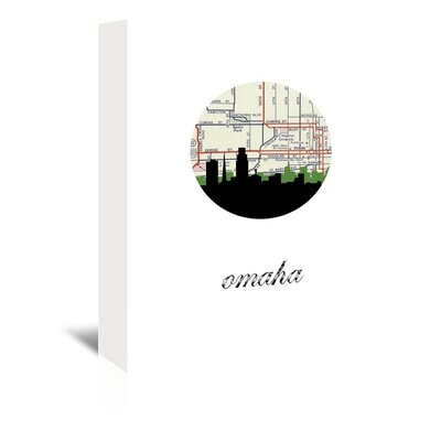 Americanflat 'Omaha Map Skyline' by PaperFinch Graphic Art Wrapped on Canvas