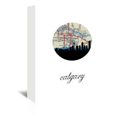Americanflat 'Calgary Map Skyline' by Paper Finch Graphic Art Wrapped on Canvas