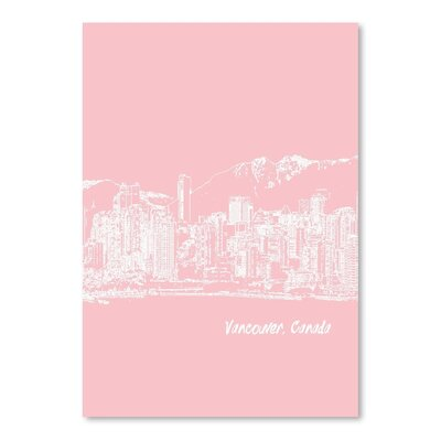 Americanflat 'Skyline Vancouver 9' by Brooke Witt Graphic Art