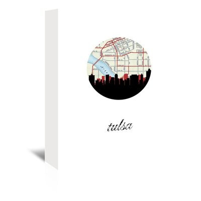 Americanflat 'Tulsa Map Skyline' by PaperFinch Graphic Art Wrapped on Canvas