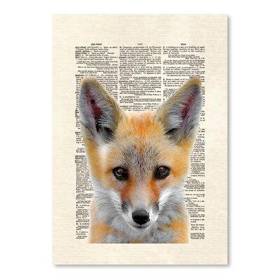 Americanflat 'Fox Face' by Matt Dinniman Graphic Art