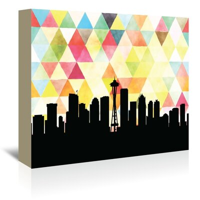 Americanflat 'Seattle Triangle' by PaperFinch Graphic Art Wrapped on Canvas