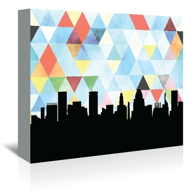 Americanflat 'Baltimore Triangle' by Paper Finch Graphic Art Wrapped on Canvas