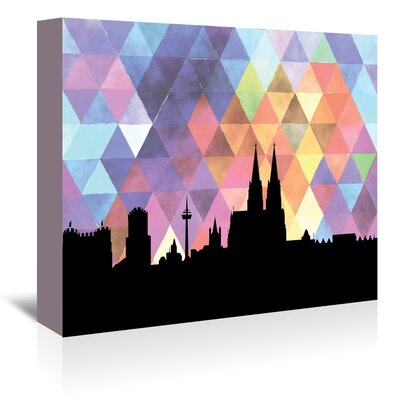 Americanflat 'Cologne Triangle' by Paper Finch Graphic Art Wrapped on Canvas