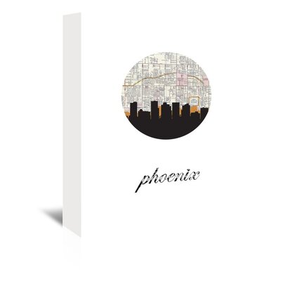 Americanflat 'Phoenix Map Skyline' by PaperFinch Graphic Art Wrapped on Canvas