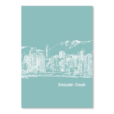 Americanflat 'Skyline Vancouver 5' by Brooke Witt Graphic Art
