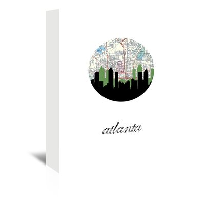 Americanflat 'Atlanta Map Skyline' by Paper Finch Graphic Art Wrapped on Canvas