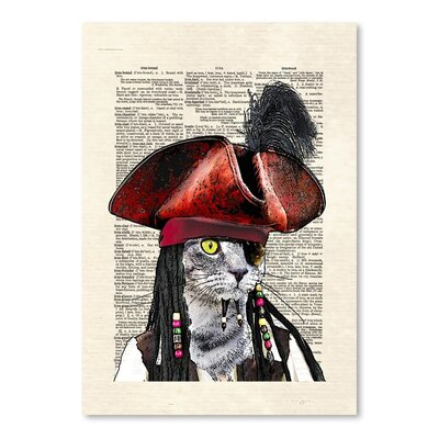 Americanflat 'Cat Sparrow' by Matt Dinniman Graphic Art